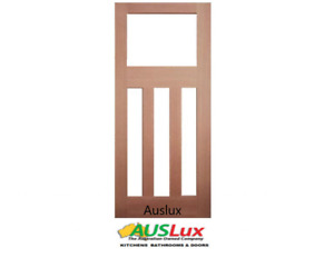 NEW SOLID TIMBER 4 GLASS PANEL FRENCH DOORS MANY SIZES