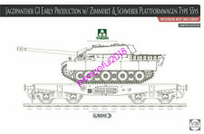 Takom 1/35 2125x Jagdpanther G1 Early Product w/Zimmerit&Schwerer Plattformwagen