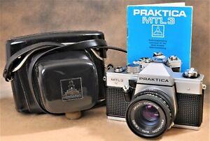 Praktica MTL3 / Pentacon 50/1.8 lens, A+MINT COND, c/w e.r.Case, Manual, Battery