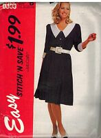 6355 UNCUT McCalls Sewing Pattern Misses Front Buttoned Dress Gored Skirt OOP 18