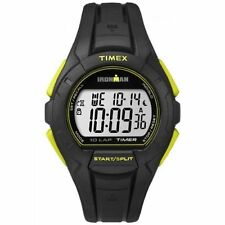 Timex TW5K93800, Men's 10-Lap Ironman Black Resin Watch, Indiglo, Alarm