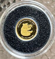 The Lao 500 KIP 2007 *25 Year Panda 1982-2007* 0.5 g Gold .9999 AU