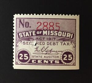 Missouri State Revenue - 25 cents Secured Debt Tax, #SCD5, MNH, fault - MO