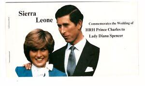 SIERRA LEONE 1981 STAPLED BOOKLET SB3 ROYAL WEDDING CHARLES & DIANA MINT