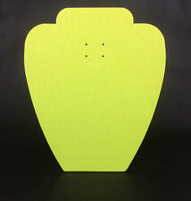 Set of 10 Jewellery Display Card Busts [A] Zesty Lime Green