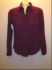 "North Crest Small (6-8) 19"" chest Purple Potion Business dress shirt Blouse $30"