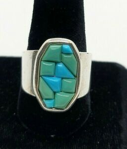 Jay King DTR Mine Finds SS Polished Nugget Turquoise Ring Size 10 Sold Out QVC
