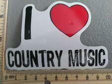 Sale! New I Love Country Music Heart Red Logo Vinyl Decal Sticker Car Truck Meme