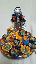 "Talavera ceramic DAY OF the dead collection  ""Pottery  Seller ""made in mexico"