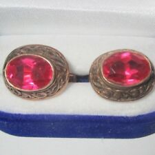 Rare Beautiful RUBY Cuffinks Silver 875 Ussr Antigue Vintage gift !