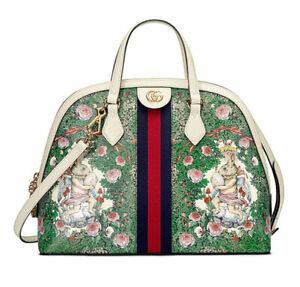 GUCCI Yuko Higuchi Hand Shoulder Bag Purse Rabbit Animal Green Japan Limited New