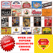 Metal Signs Man Cave Retro Pub Bar Vintage Wall Plaque Beer Garage Shed Tin Cafe