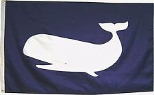 Sperm Whale on Navy Blue Hand Sewn in the USA Best Quality Boating Flag