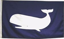 2'x3' Sperm Whale on Navy Blue Flag Hand sewn in the Usa