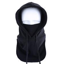 Outdoor Winter Fleece Warm Windproof Balaclava Hood Full Face Mask Hat Cap Black