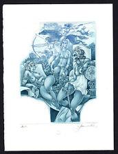 20)Nr.116- EXLIBRIS- Hedwig Pauwels, Amazonen, Auflage: 24/50