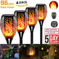 Solar Torch Lights, Waterproof Flickering Flames Torches Solar On Lights (4PACK)