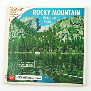 Vintage View-Master Reels Set Packet A322 ROCKY MOUNTAIN NATIONAL PARK COLORADO