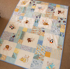 Sweet Dreams large cot/lap embroidered patchwork babies stuffed toys-100 x 130cm