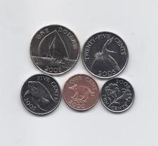 BERMUDA 2000 - 2009 FIVE HIGH GRADE COINS SET: PIG, FISH, FLOWER, BIRD, SHIP