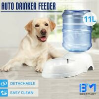 11L Pet Dog Cat Puppy Water Dispenser Feeder Drinking Bottle Bowl Dish Automatic