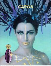 PUBLICITE ADVERTISING  026 2010  Caron  le parfum SACRE femme