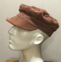 FREE PEOPLE Brown Corduroy Harrison Lieutenant Hat One Size NWOT