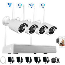 WIFI 960P 4CH NVR Wireless Home Surveillance IP Camera System WIFI Day/Night IR