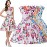 Flowers Style Vintage Retro Swing 50s 60s pinup Prom Housewife Picnic Dress