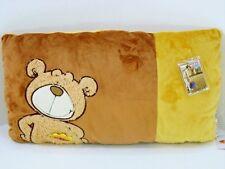 """NICI - Soffice cuscino """"CANE"""" in peluche di cotone marrone/ocre -cm. 42 x 22"""