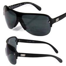 New Mens DG Shield Fashion Wrap Designer Sunglasses Shades Retro Vintage Black