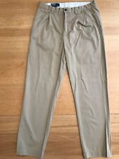"Polo by Ralph Lauren SNG Pleated 'CHATFIELD PANT' Khaki Chino - Size 33""W x 31""L"