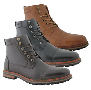 MENS SMART BOOTS MILITARY COMBAT WORK CASUAL CHUKKA WALKING ANKLE HIKING SHOES