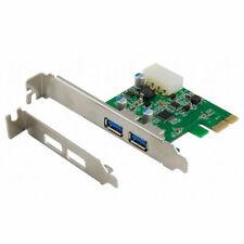 PCI Express PCI-E Controller Card Adapter 2Port USB 3.0 4Pin SATA Low Profile L