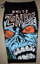 White Zombie Cotton Shorts Sweatpants Free Size Heavy Metal Band Rob New!