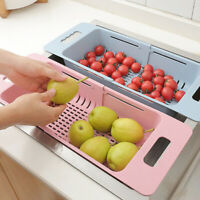 Foldable Plastic Kitchen Plate Dish Dry Drainer Rack Organizer Storage Holder