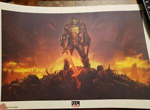 "PAX East 2020 Doom Eternal Bethesda Game Day 11x18"" Poster Print"
