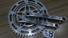 VINTAGE STRONGLIGHT 49D DOUBLE CHAINSET 52 x 42 50mmBCD  good teeth 170mm  (CS8)