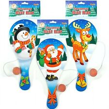 24 x CHRISTMAS XMAS WOODEN BIFF BAT & BALL ~ SANTA, RUDOLPH & SNOWMAN STOCKINGS?