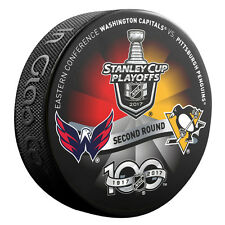 2017 Stanley Cup Playoffs Dueling Puck Washington Capitals / Pittsburgh Penguins