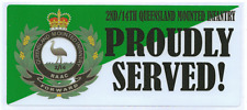 2ND/14TH QUEENSLAND MOUNTED INFANTRY QMI PROUDLY SERVED LAMINATED VINYL STICKER