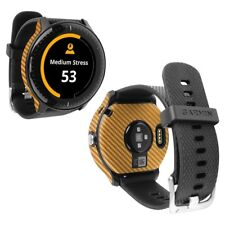 Skinomi Gold Carbon Fiber Skin+Screen Protector for Garmin Vivoactive 3 Music