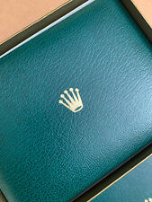 1980s Large Rolex Vintage Green/Gold Fine grain Bufkor Box Set in EXC CONDITION