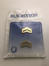 Blackington Large Corporal Bars Smooth Gold Tone Insignia