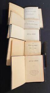 VINTAGE LOT OF 5 FREEMASON MANUALS/BOOKLETS