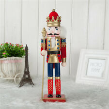 "12"" Wooden Handmade Nutcracker Doll Soldier Model Home Decor Christmas Gifts"