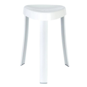 Better Living Shower Seat 15 in. x 18 in. Portable Rust Resistant Aluminum White