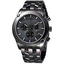Heritage Swiss Burberry BU1854 Black Stainless Steel Chronograph Watch