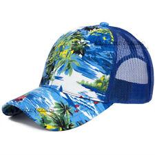 Hawaiian Trucker Hat Mesh Back Hawaii Cap Tropical Floral Snapback  Adjustable dee43cec1922