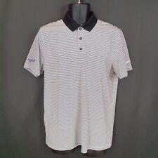 Nike Golf Men's M Black Striped Standard Fit Short-Sleeve Polo Shirt (*Branded*)